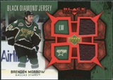 2007/08 Upper Deck Black Diamond Jerseys Ruby Dual #BDJMO Brenden Morrow /100