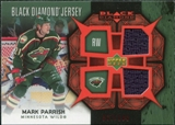 2007/08 Upper Deck Black Diamond Jerseys Ruby Dual #BDJMP Mark Parrish /100