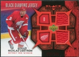 2007/08 Upper Deck Black Diamond Jerseys Ruby Dual #BDJNL Nicklas Lidstrom /100