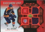 2007/08 Upper Deck Black Diamond Jerseys Ruby Dual #BDJOJ Olli Jokinen /100