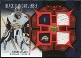2007/08 Upper Deck Black Diamond Jerseys Ruby Dual #BDJRM Ryan Miller /100