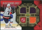 2007/08 Upper Deck Black Diamond Jerseys Gold Triple #BDJAA Arron Asham /25