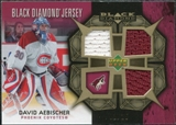2007/08 Upper Deck Black Diamond Jerseys Gold Triple #BDJAE David Aebischer /25