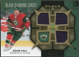 2007/08 Upper Deck Black Diamond Jerseys Gold Triple #BDJAH Adam Hall /25
