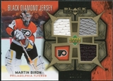 2007/08 Upper Deck Black Diamond Jerseys Gold Triple #BDJBI Martin Biron /25