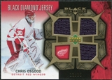 2007/08 Upper Deck Black Diamond Jerseys Gold Triple #BDJCO Chris Osgood /25
