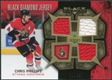 2007/08 Upper Deck Black Diamond Jerseys Gold Triple #BDJCP Chris Phillips /25
