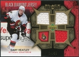 2007/08 Upper Deck Black Diamond Jerseys Gold Triple #BDJDH Dany Heatley /25
