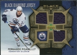 2007/08 Upper Deck Black Diamond Jerseys Gold Triple #BDJFP Fernando Pisani /25