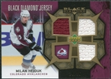 2007/08 Upper Deck Black Diamond Jerseys Gold Triple #BDJHE Milan Hejduk /25