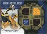 2007/08 Upper Deck Black Diamond Jerseys Gold Triple #BDJHT Hannu Toivonen 9/25