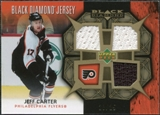 2007/08 Upper Deck Black Diamond Jerseys Gold Triple #BDJJC Jeff Carter /25