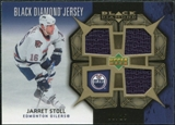 2007/08 Upper Deck Black Diamond Jerseys Gold Triple #BDJJS Jarret Stoll /25