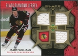 2007/08 Upper Deck Black Diamond Jerseys Gold Triple #BDJJW Jason Williams /25