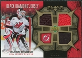 2007/08 Upper Deck Black Diamond Jerseys Gold Triple #BDJMA Martin Brodeur /25