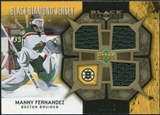 2007/08 Upper Deck Black Diamond Jerseys Gold Triple #BDJMF Manny Fernandez /25