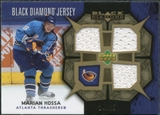 2007/08 Upper Deck Black Diamond Jerseys Gold Triple #BDJMH Marian Hossa /25