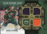 2007/08 Upper Deck Black Diamond Jerseys Gold Triple #BDJMP Mark Parrish /25