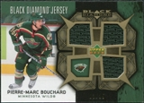 2007/08 Upper Deck Black Diamond Jerseys Gold Triple #BDJPB Pierre-Marc Bouchard /25