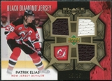 2007/08 Upper Deck Black Diamond Jerseys Gold Triple #BDJPE Patrik Elias /25