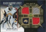 2007/08 Upper Deck Black Diamond Jerseys Gold Triple #BDJRM Ryan Miller /25