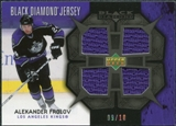 2007/08 Upper Deck Black Diamond Jerseys Black Quad #BDJAF Alexander Frolov 9/10