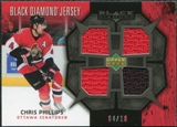2007/08 Upper Deck Black Diamond Jerseys Black Quad #BDJCP Chris Phillips /10