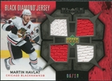 2007/08 Upper Deck Black Diamond Jerseys Black Quad #BDJHM Martin Havlat /10