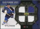 2007/08 Upper Deck Black Diamond Jerseys Black Quad #BDJKT Keith Tkachuk /10