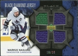 2007/08 Upper Deck Black Diamond Jerseys Black Quad #BDJMN Markus Naslund /10