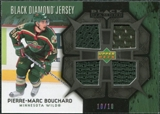 2007/08 Upper Deck Black Diamond Jerseys Black Quad #BDJPB Pierre-Marc Bouchard /10