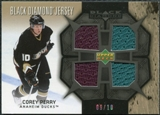 2007/08 Upper Deck Black Diamond Jerseys Black Quad #BDJPC Corey Perry /10