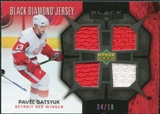 2007/08 Upper Deck Black Diamond Jerseys Black Quad #BDJPD Pavel Datsyuk /10