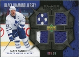 2007/08 Upper Deck Black Diamond Jerseys Black Quad #BDJSU Mats Sundin /10