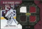 2007/08 Upper Deck Black Diamond Jerseys Black Quad #BDJTH Jose Theodore 10/10
