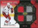 2007/08 Upper Deck Black Diamond Jerseys Black Quad #BDJWI Justin Williams /10