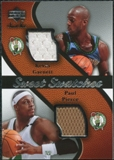 2007/08 Upper Deck Sweet Shot Swatches Dual #PG Kevin Garnett Paul Pierce