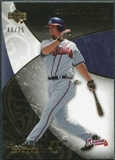 2007 Upper Deck Exquisite Collection Rookie Signatures Gold #39 Chipper Jones /75
