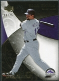 2007 Upper Deck Exquisite Collection Rookie Signatures Gold #70 Todd Helton /75
