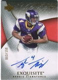2007 Upper Deck Exquisite Collection #101 Tyler Thigpen RC Autograph /150