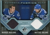 2007/08 Upper Deck SP Game Used Authentic Fabrics Duals #AF2VC Markus Naslund / Mattias Ohlund /100