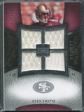 2007 Upper Deck Exquisite Collection Maximum Jersey Silver #AS Alex Smith QB /75