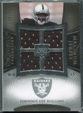 2007 Upper Deck Exquisite Collection Maximum Jersey Silver #HI Johnnie Lee Higgins /75