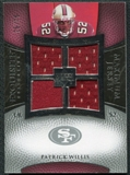 2007 Upper Deck Exquisite Collection Maximum Jersey Silver #PW Patrick Willis /75