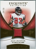 2007 Upper Deck Exquisite Collection Patch Gold #AC Alge Crumpler /50