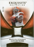 2007 Upper Deck Exquisite Collection Patch Gold #BE Braylon Edwards /50