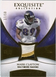 2007 Upper Deck Exquisite Collection Patch Gold #CL Mark Clayton /50