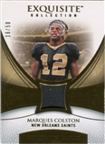 2007 Upper Deck Exquisite Collection Patch Gold #CO Marques Colston /50