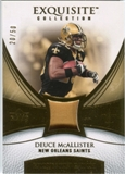 2007 Upper Deck Exquisite Collection Patch Gold #DE Deuce McAllister /50
