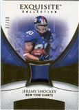 2007 Upper Deck Exquisite Collection Patch Gold #JS Jeremy Shockey /50
